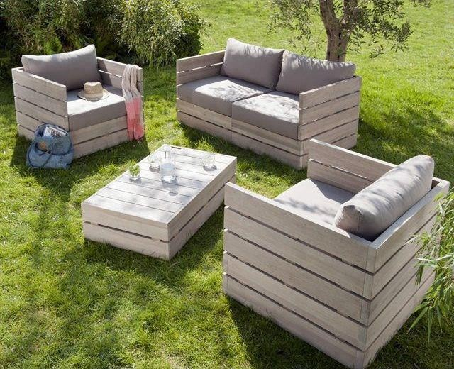 Salon de jardin palette plan - Abri de jardin et balancoire idée