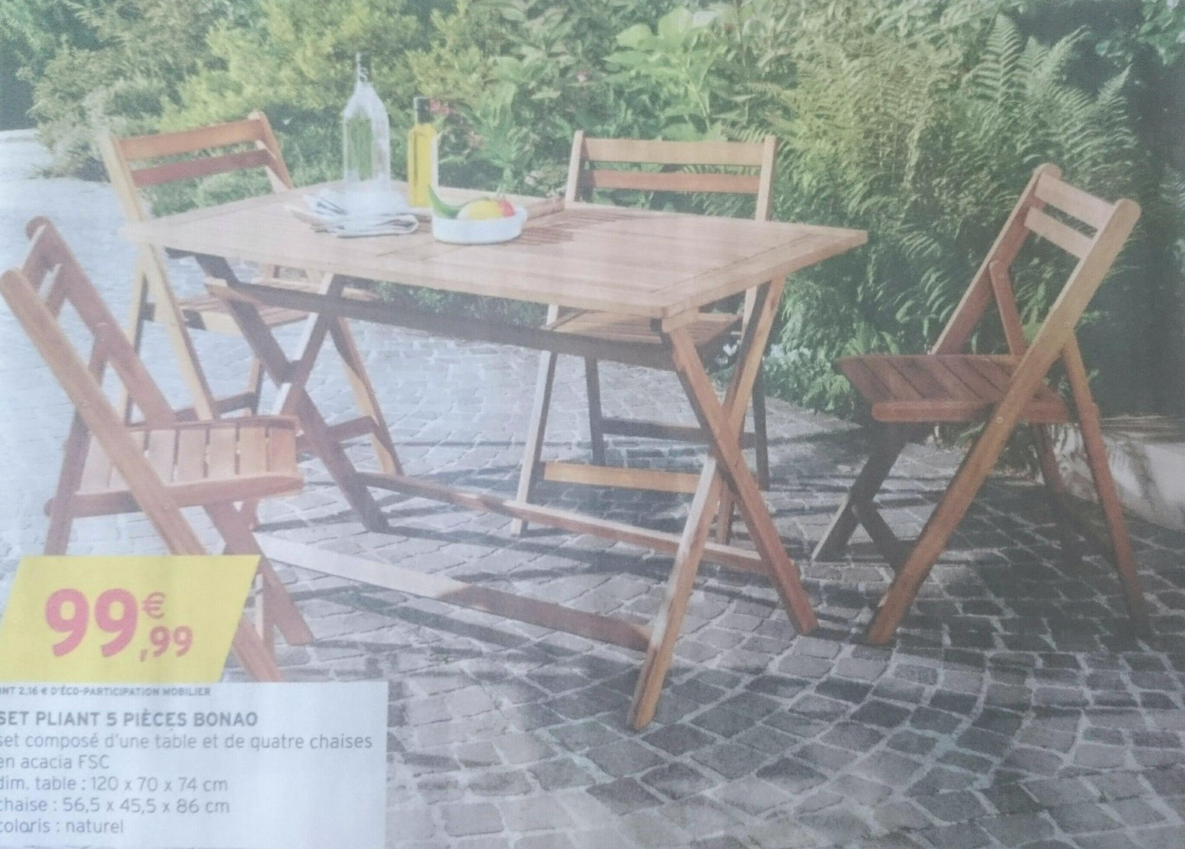 Salon de jardin santiago en acacia - Abri de jardin et balancoire idée