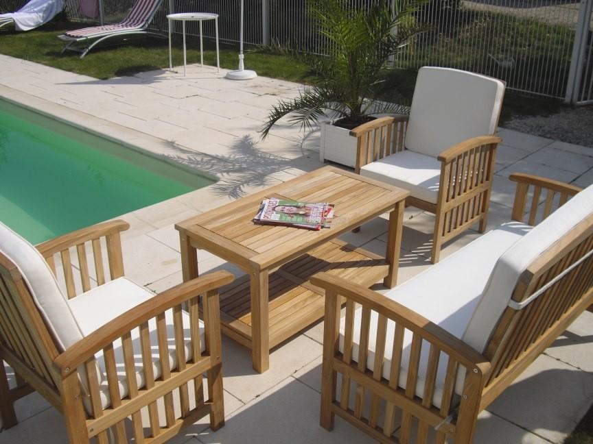 Salon bas de jardin en bambou - Abri de jardin et balancoire ...