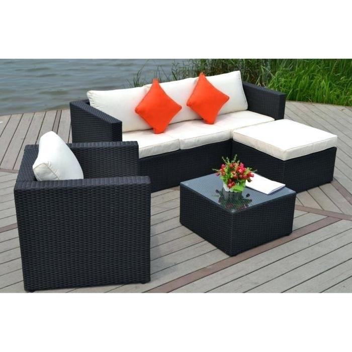 salon de jardin canap d 39 angle r sine tress e noir tropical abri de jardin et balancoire id e. Black Bedroom Furniture Sets. Home Design Ideas