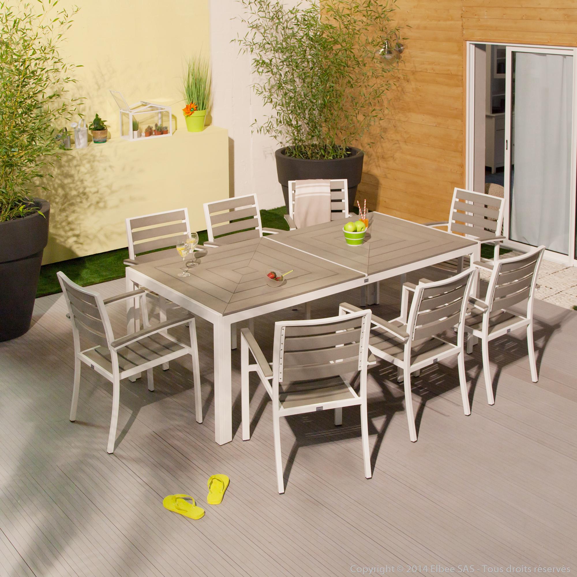 Salon de jardin composite et alu pas cher - Abri de jardin ...