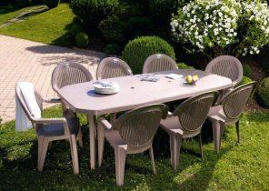 Salon de jardin tresse beige - Abri de jardin et balancoire idée