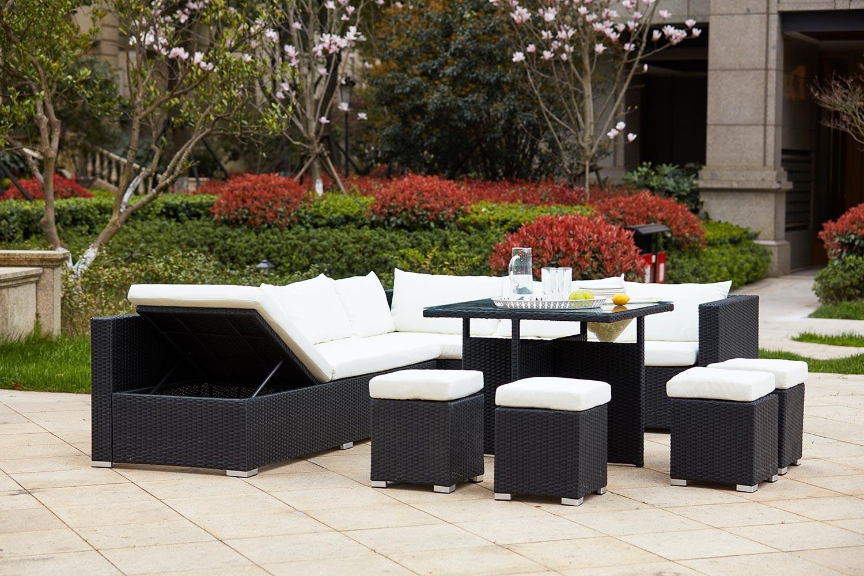 Salon de jardin totem noir - Abri de jardin et balancoire idée