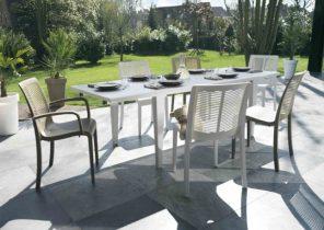 Chaise salon de jardin plastique blanc - Abri de jardin et ...