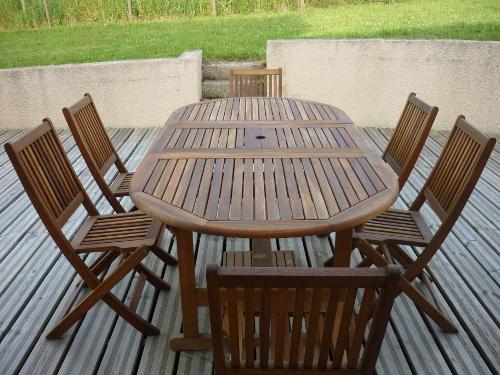 Mobilier de jardin en bois exotique - Abri de jardin et ...