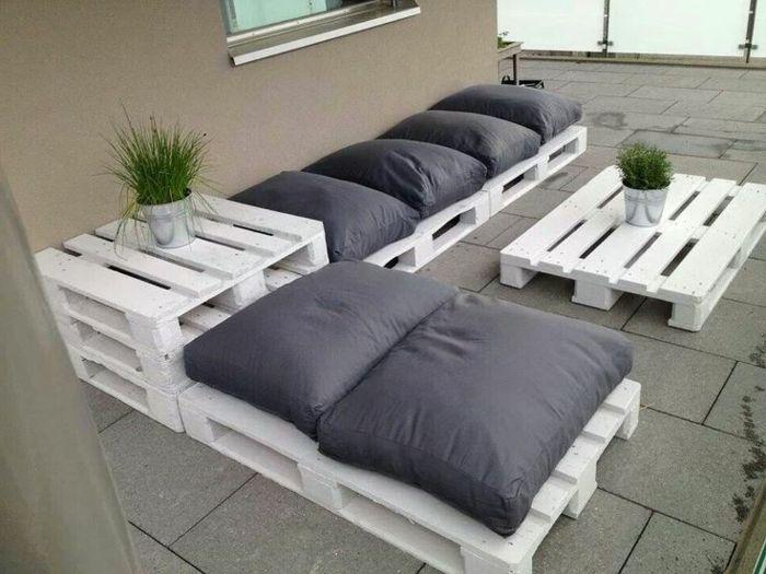 Idee deco salon de jardin palette
