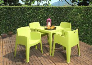 Salon de jardin canapé d\'angle - Abri de jardin et balancoire idée