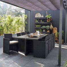 Salon de jardin teck groupon - Abri de jardin et balancoire idée