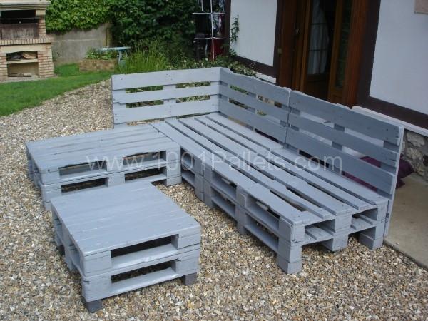 Fabriquer salon de jardin palette bois - Abri de jardin et ...