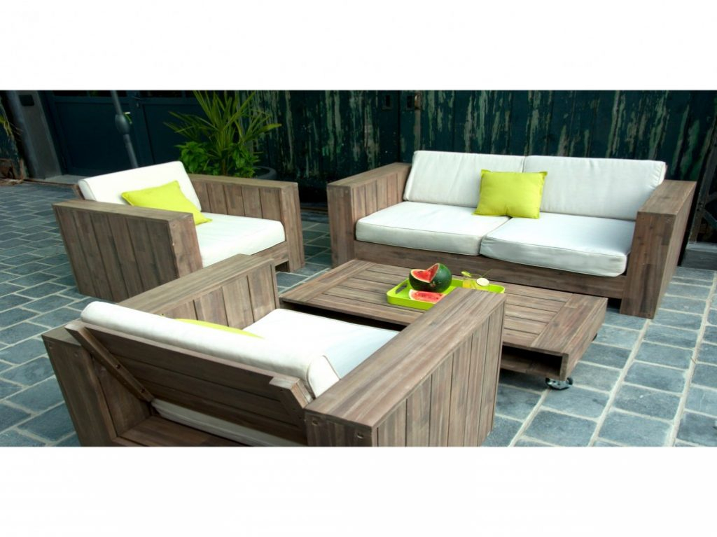 Salon de jardin en bois gifi - Abri de jardin et balancoire idée