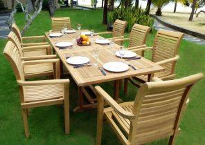 Fauteuil de salon de jardin en bois - Abri de jardin et balancoire idée