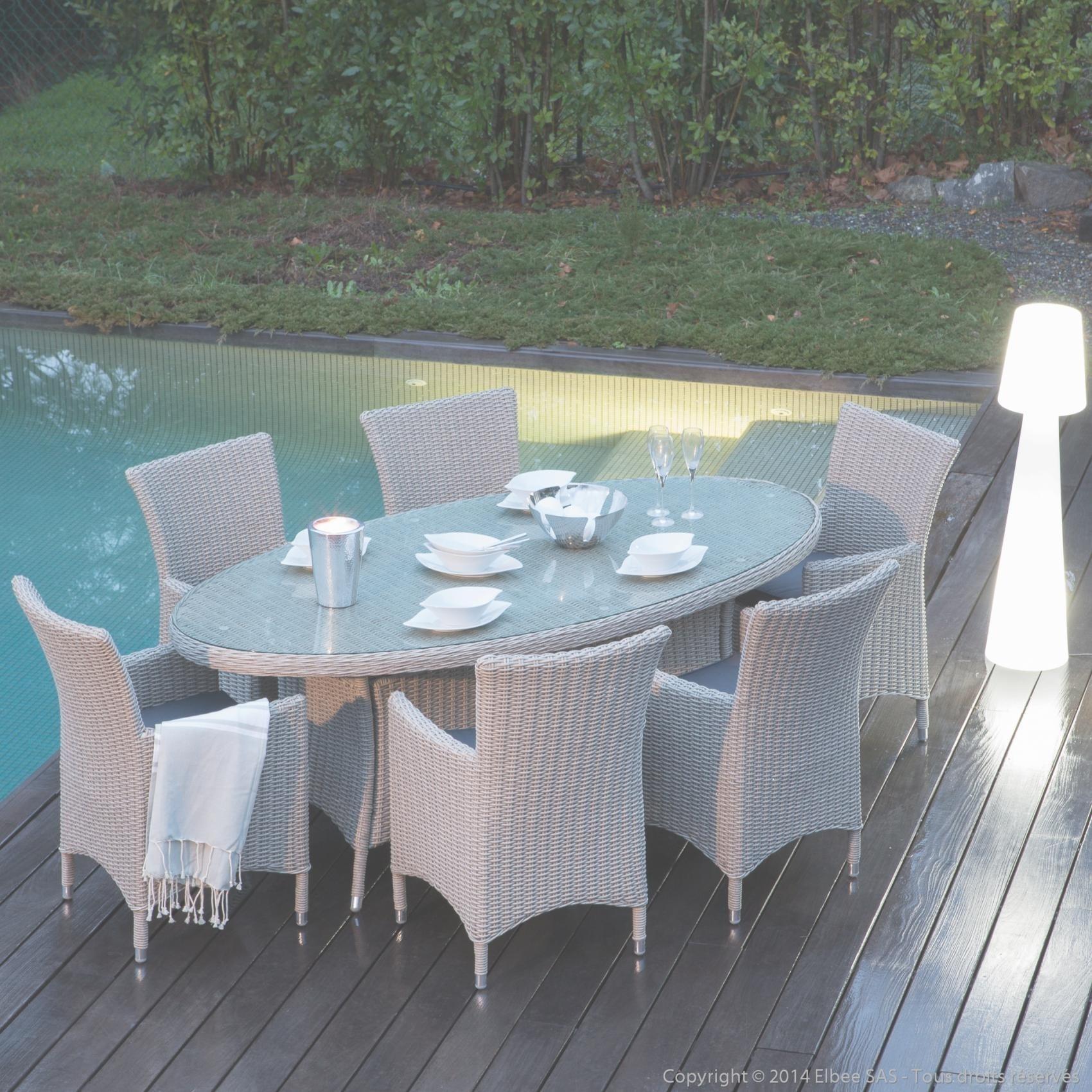 Salon de jardin table ovale - Abri de jardin et balancoire idée