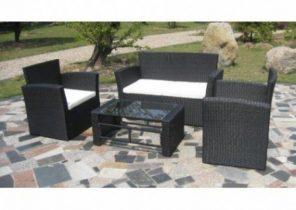 Goa salon de jardin 5 places en résine tressée et aluminium ...