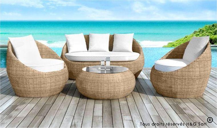 salon de jardin aspect rotin tress rond abri de jardin. Black Bedroom Furniture Sets. Home Design Ideas