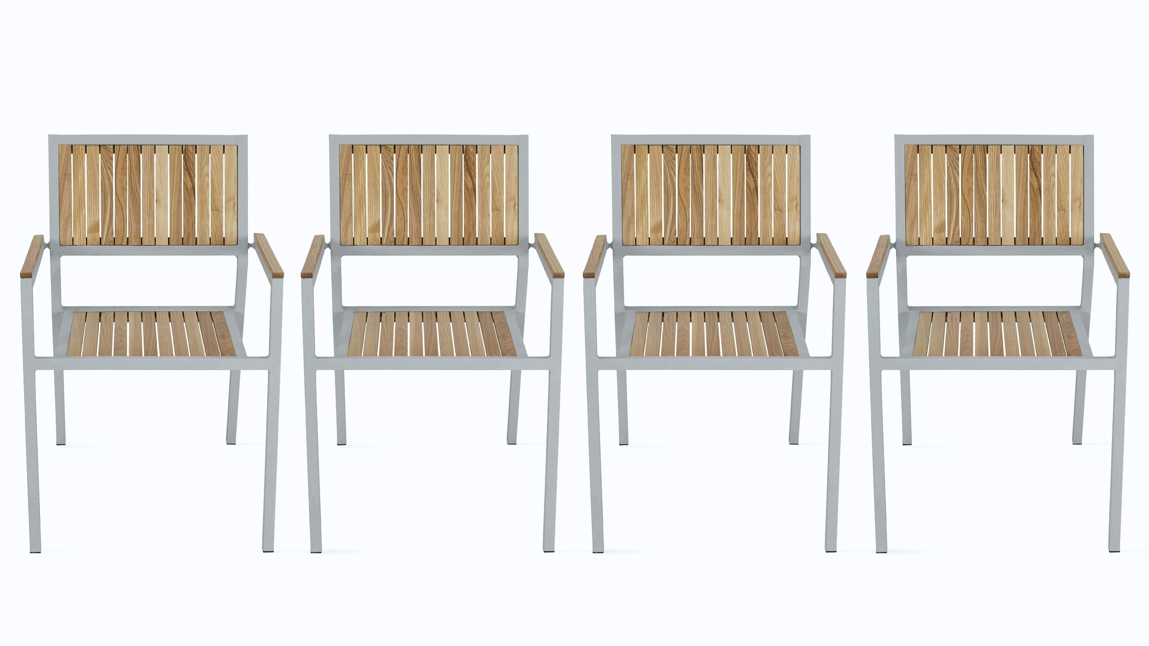 Salon de jardin en bois laqué blanc - Abri de jardin et balancoire idée