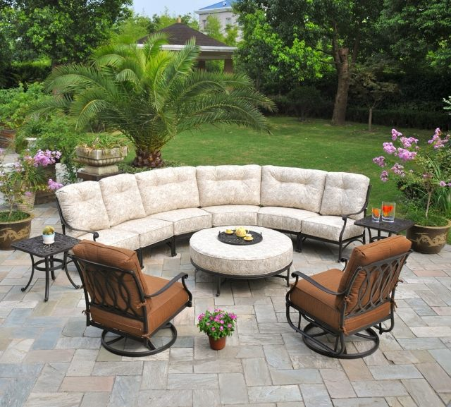 Salon de jardin canapé fauteuil fer forgé - Abri de jardin et ...