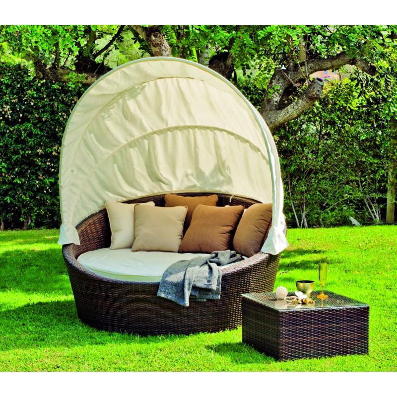 Salon de jardin lit sofa rond - Abri de jardin et balancoire idée