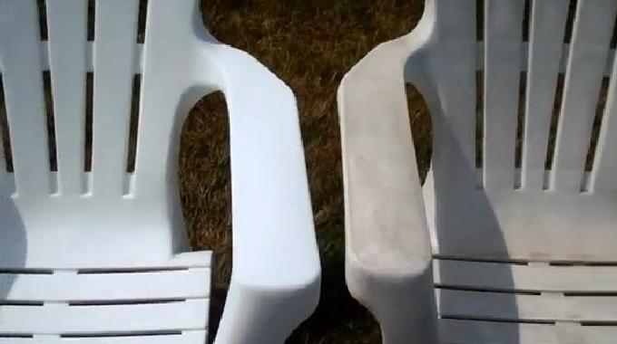 Nettoyer un salon de jardin plastique blanc - Abri de jardin et ...