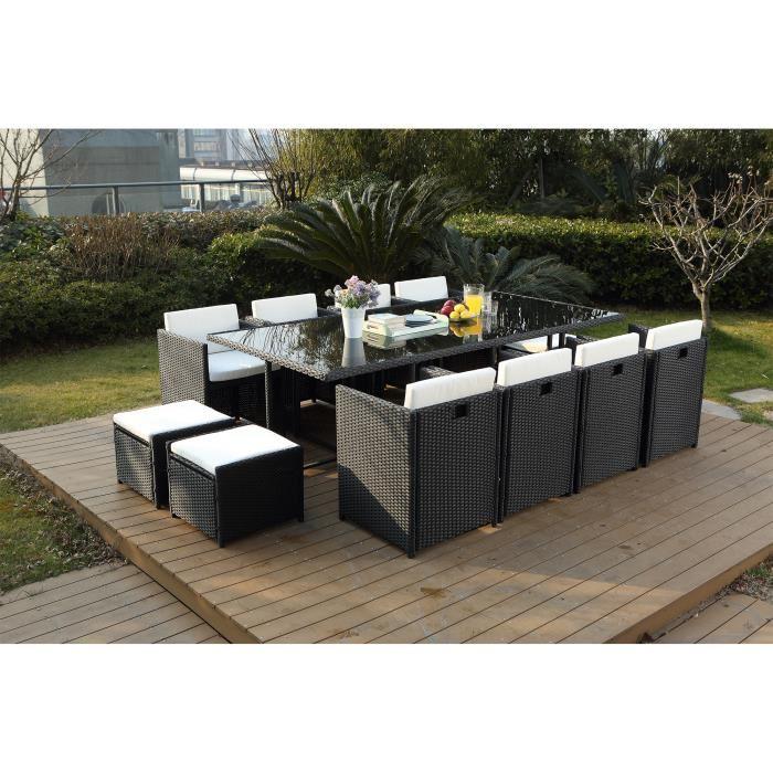 Salon de jardin encastrable 12 places - Abri de jardin et balancoire ...