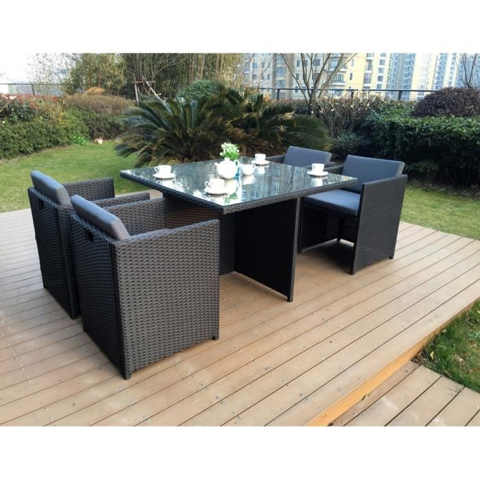 Salon de jardin tressee encastrable 4 places - Abri de jardin et ...