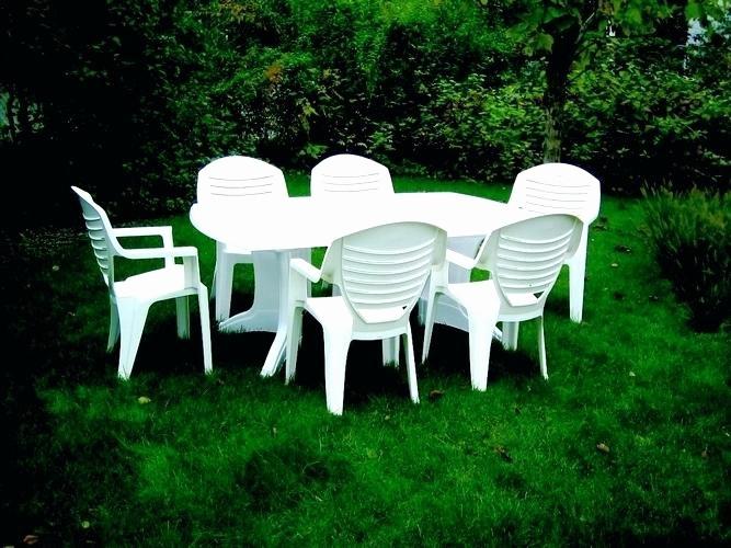 Entretien salon de jardin plastique blanc - Abri de jardin et ...