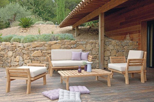 Salon de jardin en bois scandinave - Abri de jardin et ...