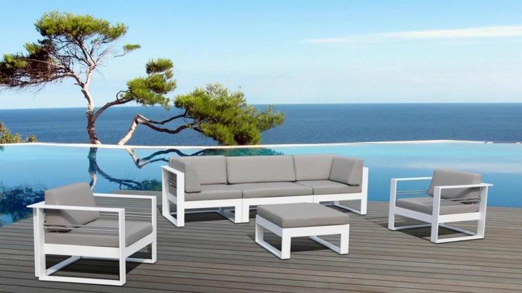Salon de jardin blanc et turquoise - Abri de jardin et ...