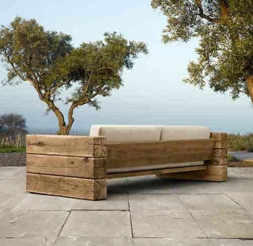 Faire un salon de jardin en bois - Abri de jardin et balancoire idée