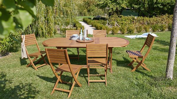 Salon de jardin acacia carrefour - Abri de jardin et balancoire idée