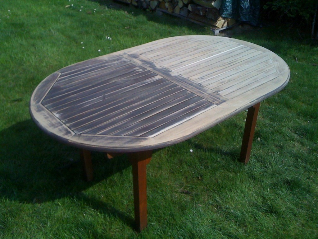 Peindre salon de jardin en bois exotique - Abri de jardin et ...