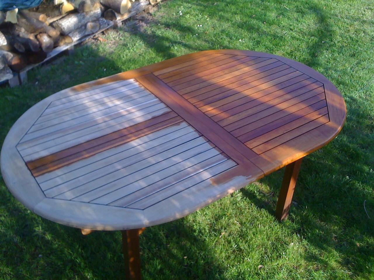 peindre un salon de jardin en bois exotique abri de. Black Bedroom Furniture Sets. Home Design Ideas