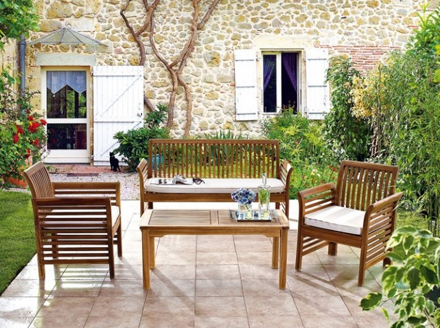 Salon de jardin bois leclerc - Abri de jardin et balancoire idée