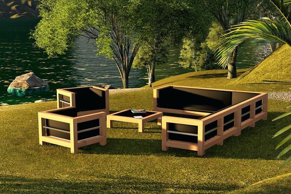 Salon de jardin bois original - Abri de jardin et balancoire idée