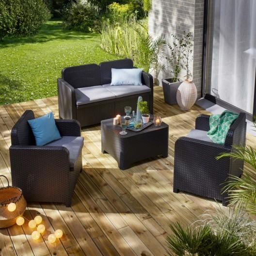 Salon de jardin en pvc leroy merlin - Abri de jardin et balancoire idée
