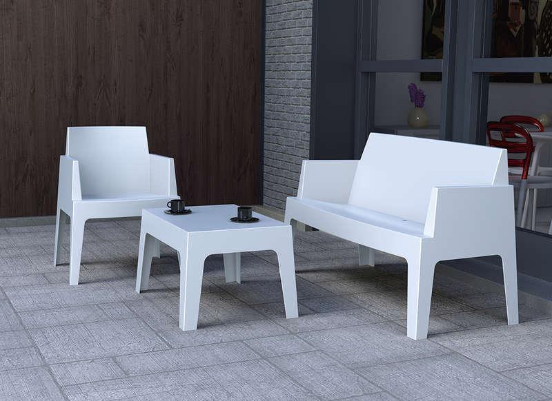 Salon de jardin blanc plastique - Abri de jardin et balancoire idée