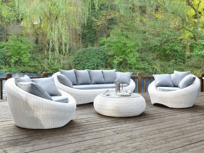 salon de jardin arrondi gris abri de jardin et. Black Bedroom Furniture Sets. Home Design Ideas