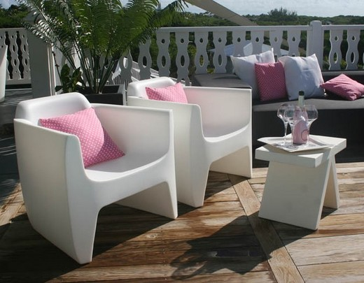 Mobilier de jardin plastique blanc - Abri de jardin et ...
