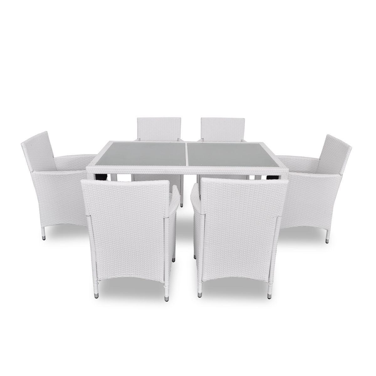 Chaise salon de jardin blanc - Abri de jardin et balancoire idée