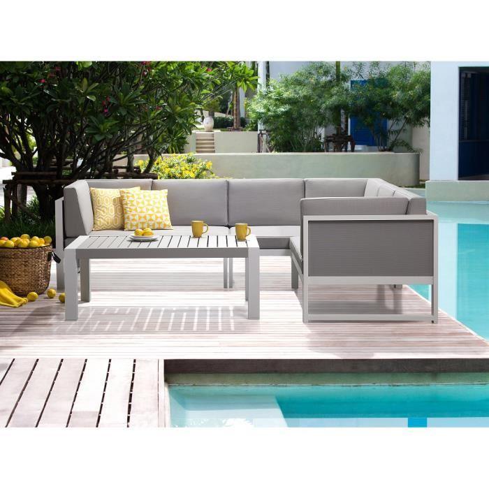 Salon de jardin d\'angle aluminium - Abri de jardin et balancoire idée