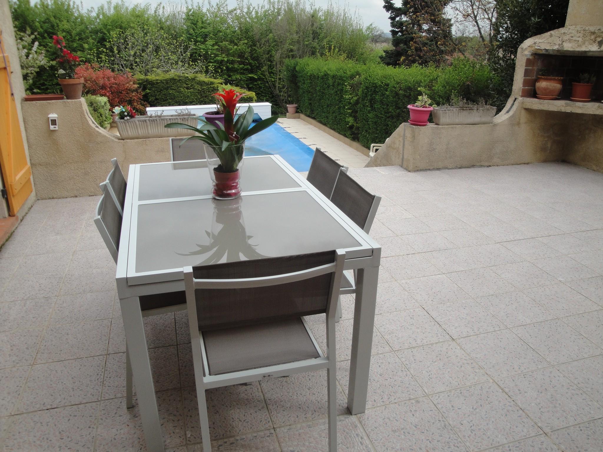 Salon de jardin résine tressée extensible - Abri de jardin et ...