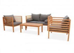Salon de jardin table encastrable - Abri de jardin et balancoire idée