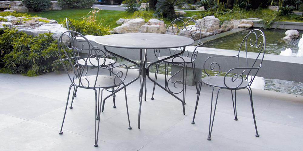 Salon de jardin acier ou aluminium - Abri de jardin et ...