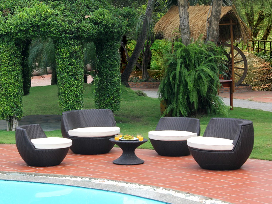 Salon de jardin en bambou d\'occasion - Abri de jardin et ...