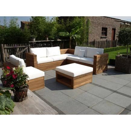 Table de salon de jardin en bois exotique - Abri de jardin ...