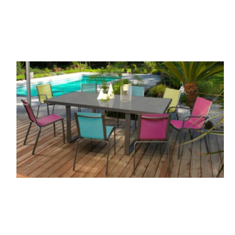 Idee couleur salon de jardin - Abri de jardin et balancoire idée