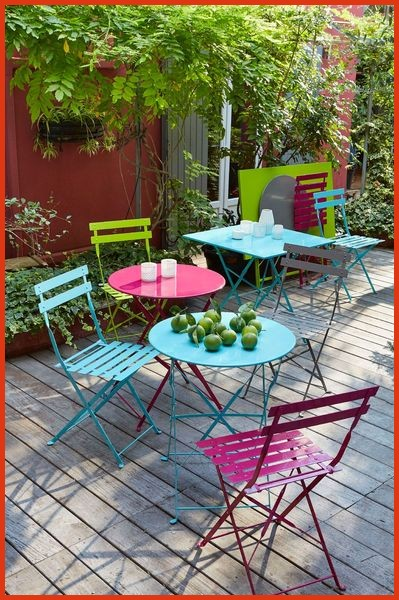 Salon de jardin metallique couleur - Abri de jardin et balancoire idée