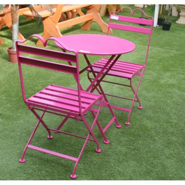 Salon de jardin fer forge rose - Abri de jardin et balancoire idée