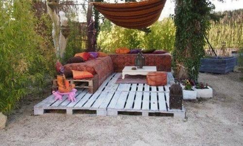 Salon de jardin palette facile - Abri de jardin et balancoire idée