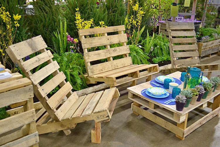 Salon de jardin fait soi meme avec palette - Abri de jardin et ...