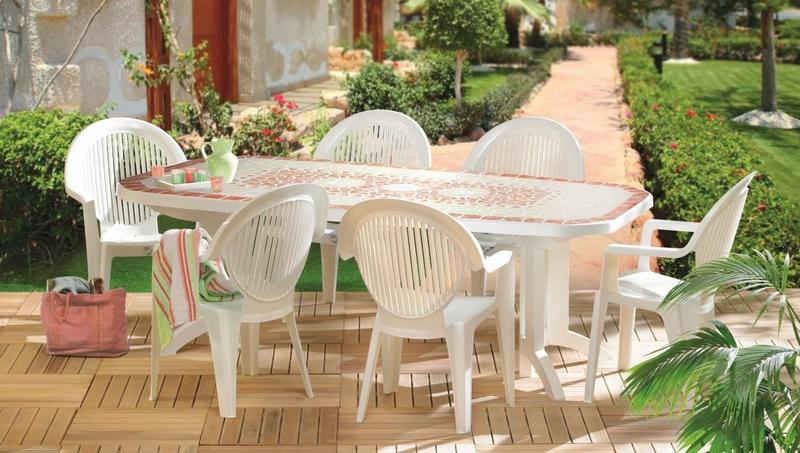Salon de jardin pvc couleur